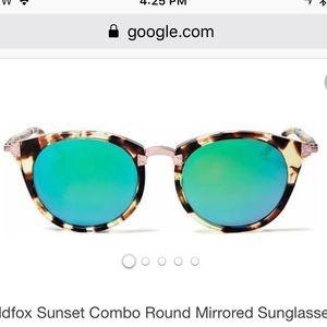 Wildfox Women's Sunset Combo Round Mirror Sunnies